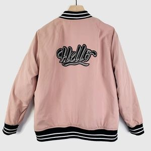 Forever 21 Hello Padded Bomber Jacket Large